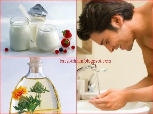 Hỗn hợp sữa chua và tinh dầu trị mụn nam giới hiệu quả
