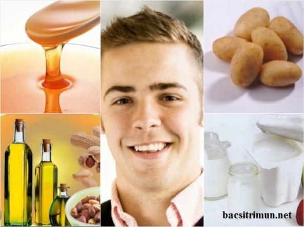 Biện pháp trị mụn nam giới hiệu quả bằng mật ong, sữa chua, dầu phộng,khoai tây